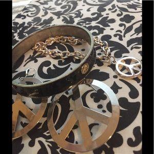 Jewelry - PEACE bracelets 2, peace dangle earrings costume